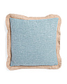 20x20 Jute Trim Faux Linen Pillow
