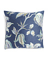 20x20 Metallic Floral Pillow