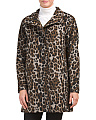 Leopard Wool Car Coat
