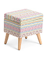 Patterned Storage Stool