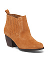 Almond Toe Suede Booties