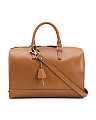 Made In Italy Speedy Leather Satchel