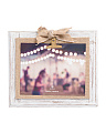 8x10 Burlap Bow Wood Photo Frame