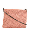 Made In Italy Handwoven Leather Crossbody