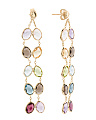 Made In Italy 14k Gold Dancing Gemstone Earrings