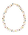 Made In Italy 14k Gold Dancing Gemstone Necklace
