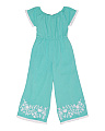 Girls Nusa Embroidered Jumpsuit