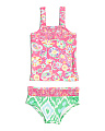 Girls Smocked Tankini & Bottom Set