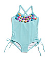 Baby Girls Pom Pom Crossback Swimsuit
