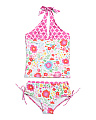 Girls 2pc English Garden Tankini Set