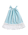 Girls Metallic Stripe Cover-up