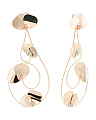 Made In Italy 14k Tricolor Gold Scrolled Statement Earrings