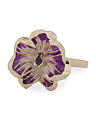 Made In Italy 14k Gold Enamel Flower Ring