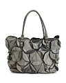 Made In Italy Leather Perla Petals Tote