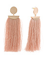 14k Matte Gold Plated Brass Fringe Statement Earrings