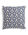 Made In India 22x22 Trellis Linen Pillow