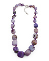 Sterling Silver Purple Agate Necklace