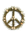 18in Peace Sign Wreath