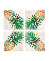 Set Of 4 Pineapple Coasters