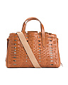 Made In Italy Basket Woven Leather Tote