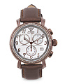 Women's Swiss Made Diamond 31mm Chronograph Watch