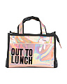 Out To Lunch Holographic Lunch Bag