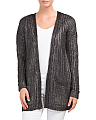 Juniors Metallic Shaker Cardigan