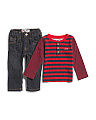 Infant Boys 2pc Henley Set