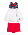 Toddler Girls Americana Bow Short Set