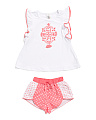 Toddler Girls 2pc Emblem Short Set