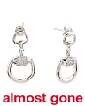 Sterling Silver Cubic Zirconia Horsebit Earrings