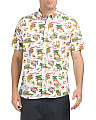 Short Sleeve Hawaiian Print Poplin Shirt