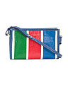 Made In Italy Bazar Leather Clutch