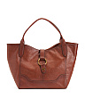 Slouchy Leather East West Tote
