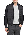 Knit Sleeve Quilted Down Jacket