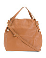 Made In Italy 2 Handle Leather Hobo