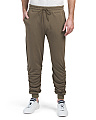 Ruched French Terry Joggers