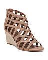 Cage Wedge Leather Sandals