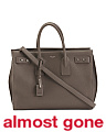 Made In Italy Leather Soft Sac De Jour Tote