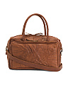 Made In Italy Leather Textured Satchel