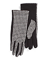Fleece Houndstooth Gloves