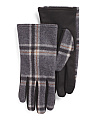 Wool Blend Plaid Gloves