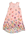 Girls Butterfly Chiffon Dress