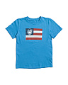 Boys Short Sleeve Flag T-shirt