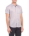 Short Sleeve Textured Woven Shirt