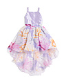 Big Girls Chiffon And Shantung Party Dress