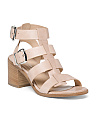 Made In Italy Strappy Leather Sandals