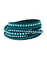 Slake Multi Row Graduated Color Crystal Wrap Bracelet