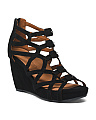 Ultimate Comfort Nappa Leather Wedge Sandals