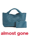 Made In Italy Leather Handwoven Tote